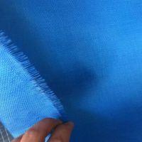 生产优质防火布 卷帘门防火布 蓝色玻璃纤维防火布