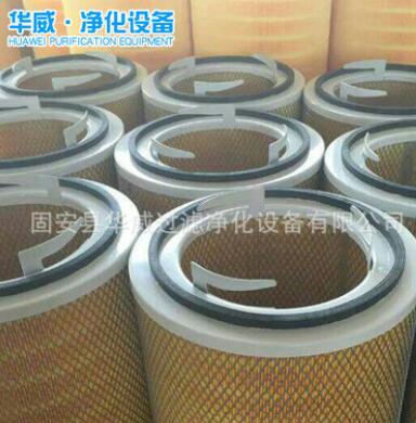 批发三耳卡盘阻燃防静电滤芯滤筒PTFE覆膜空气除尘滤筒厂家直销