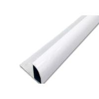 厂家直销瓷白色铝合金装饰角条 半圆封口瓷砖修边阳角线