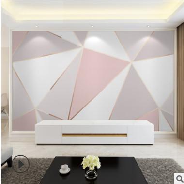 北欧电视背景墙壁纸3d客厅简约现代墙纸自粘5d装饰壁画8d影视墙布