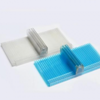 8mm透明四层锁扣阳光板 U型锁扣阳光板优质厂家