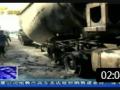 钦州 水泥罐车轮胎自燃起火140803新闻在线 (251播放)