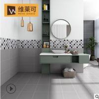 欧式现代黑白灰纯色水泥砖600*600防滑耐磨厨卫阳台客厅瓷砖地砖