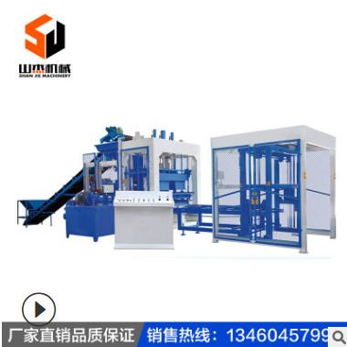 全自动大型免烧砖机水泥制砖机液压布料空心砖砌块成型设备生产线