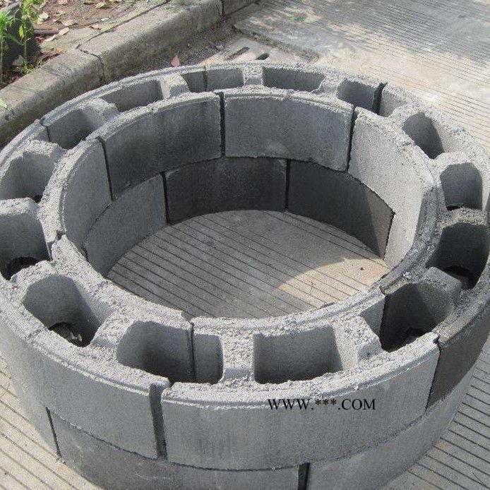 启明 圆形水泥砌井砖 砌井模块 井室砖 混凝土检查井 模块砖