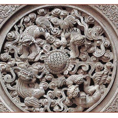 唐山古典水泥砖雕厂家青砖砌块古建砖雕