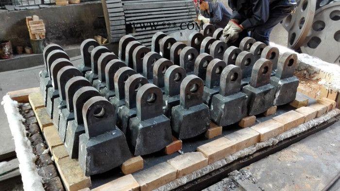 锤头 铸钢件,钢结构件,焊接件,机械加工及表面处理
