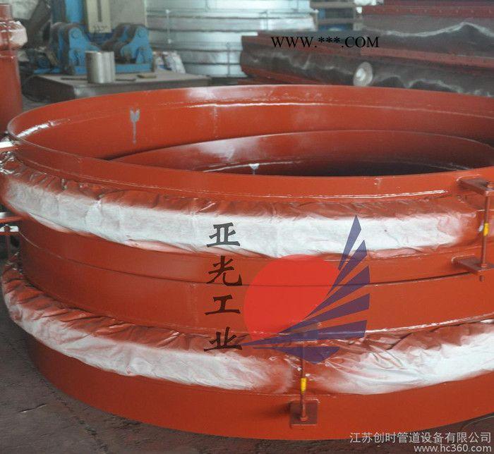 来单定做YGSYP碳钢金属膨胀节水泥行业圆形伸缩节焊接补偿器