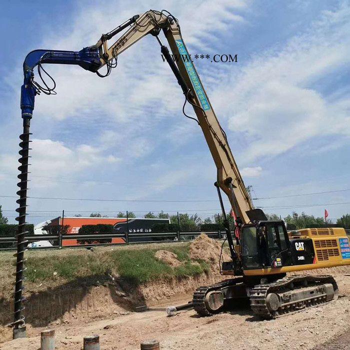 履带式液压潜孔钻机 长螺旋钻孔机价格 华力桩工 钩机改螺旋钻机