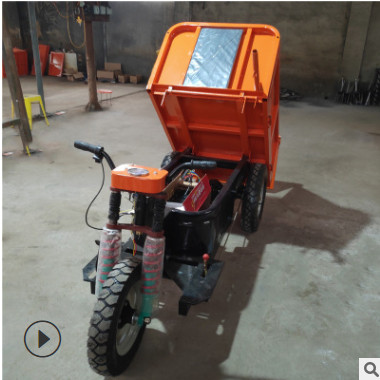 厂家直销手推电瓶翻斗车 现货供应 盖房子用水泥砂浆灰斗车