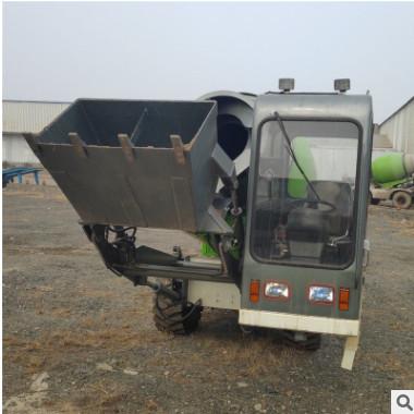 全自动混凝土搅拌上料一体车 水泥沙石搅拌车 效率快