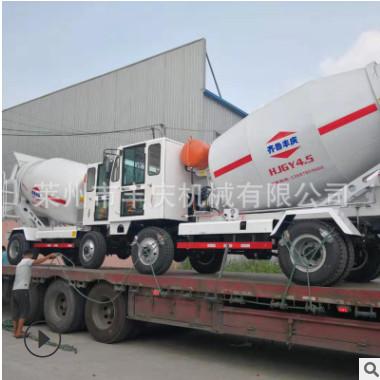 直供4.5方自动上料搅拌车齐鲁丰庆现货混凝土搅拌运输车